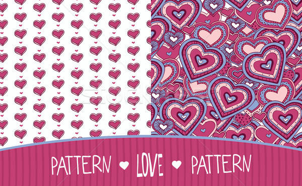 Two Love patterns white and pink Stock photo © alexanderandariadna