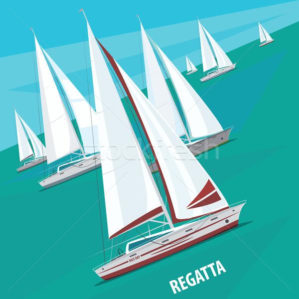 Vela regata barcos grande número Foto stock © alexanderandariadna