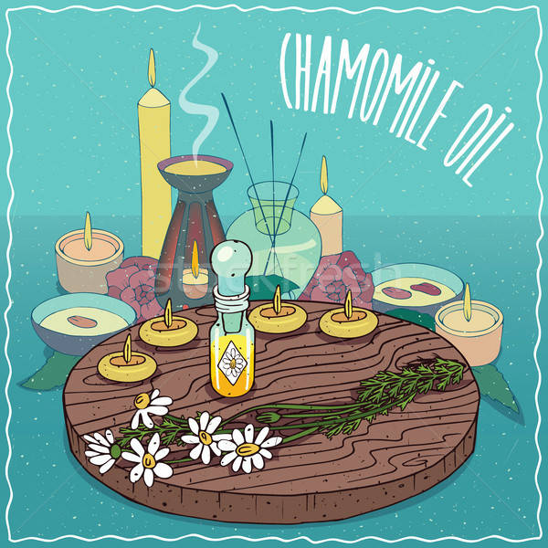 Chamomile oil used for aromatherapy Stock photo © alexanderandariadna