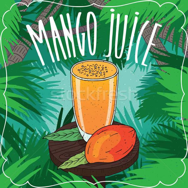 新鮮な マンゴー ジュース ガラス フルーツ ストックフォト © alexanderandariadna