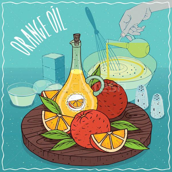 Arancione olio usato cottura vetro frutti Foto d'archivio © alexanderandariadna