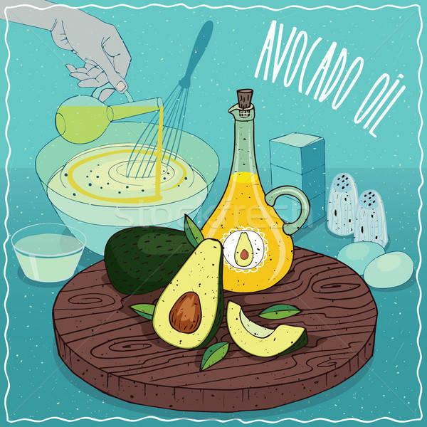 Avocado oil used for cooking Stock photo © alexanderandariadna