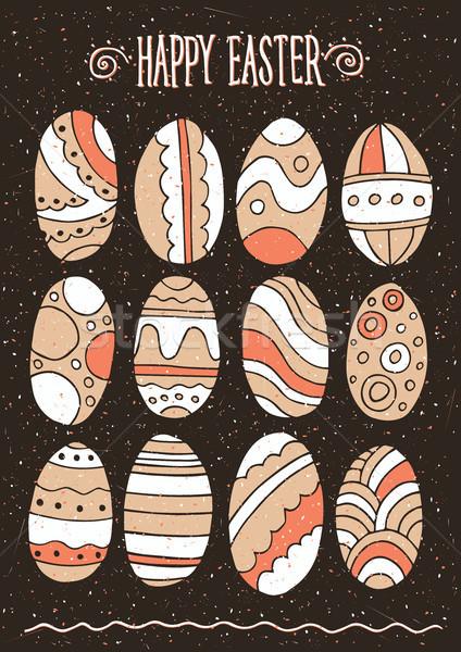 Easter eggs set Stock photo © alexanderandariadna