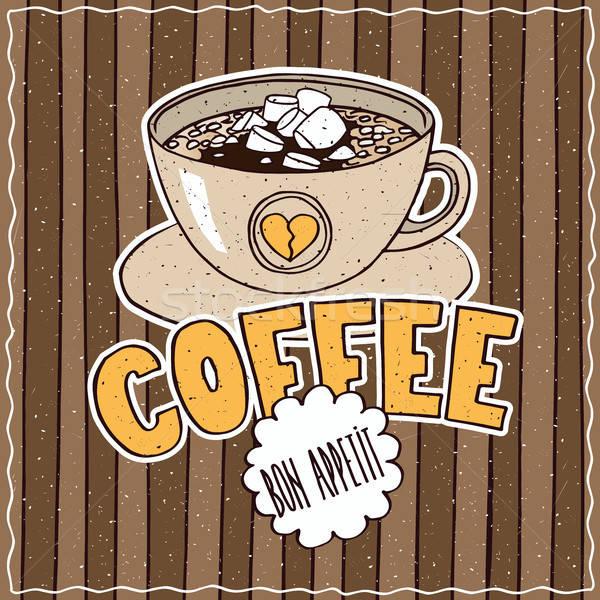 étel poszter kávé fényes színes csésze Stock fotó © alexanderandariadna