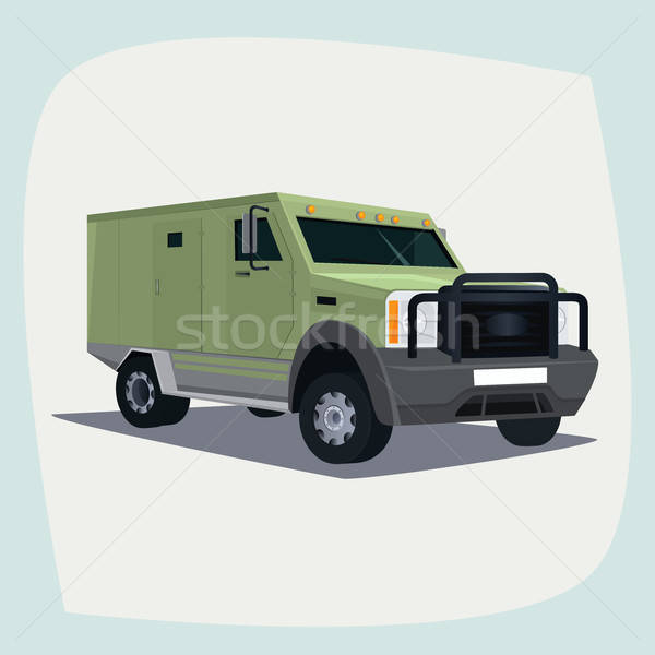 Isolated armored collector car Stock photo © alexanderandariadna