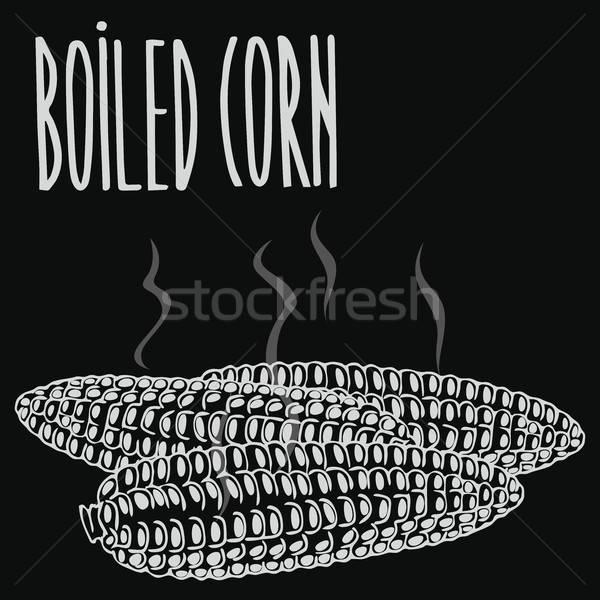Pizarra al vapor maíz orejas Foto stock © alexanderandariadna