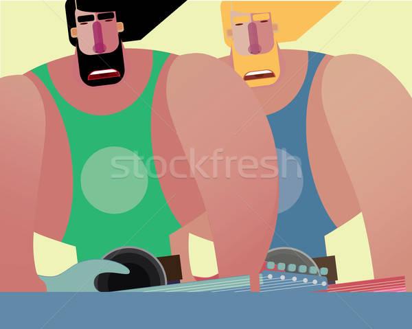 Rock band twee mannen kleur plaats tekst Stockfoto © alexanderandariadna