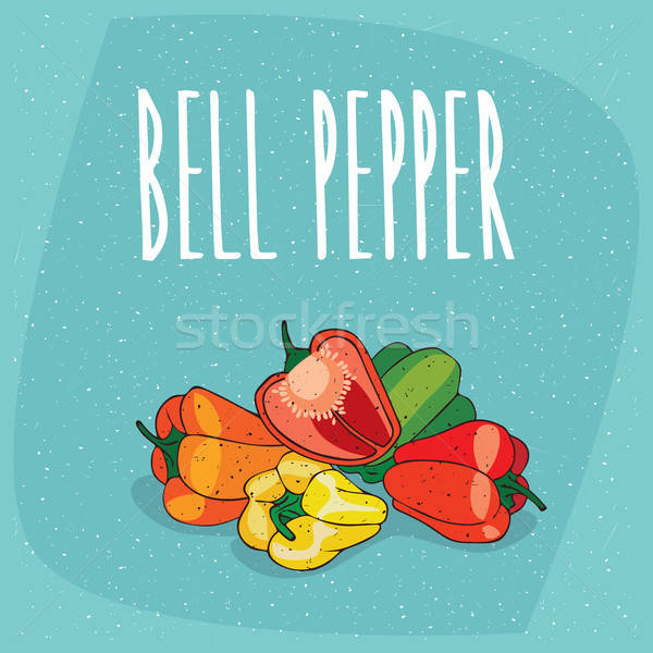 Isolated ripe capsicum fruits or bell pepper Stock photo © alexanderandariadna