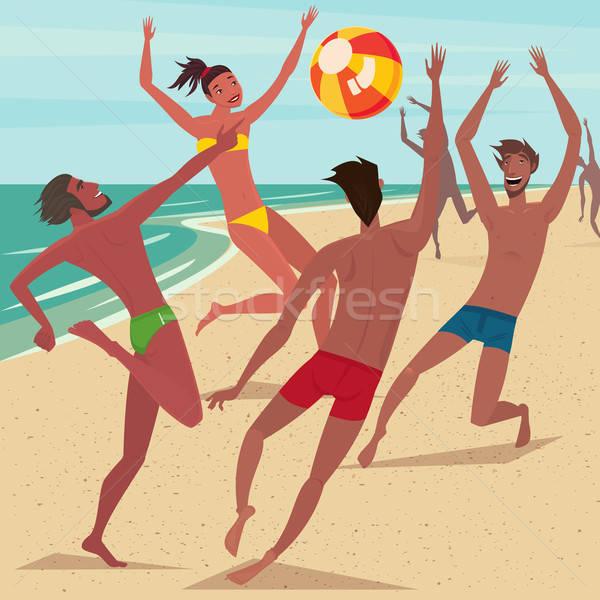 Summer activity at beach Stock photo © alexanderandariadna