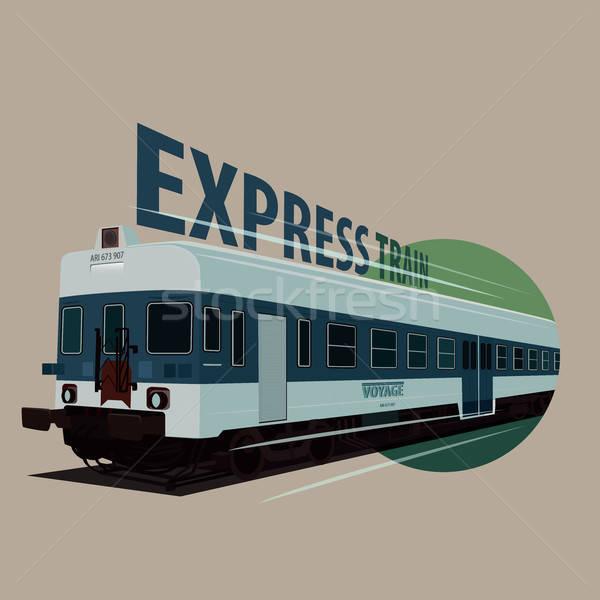 Icona vecchio treno retro colori Foto d'archivio © alexanderandariadna