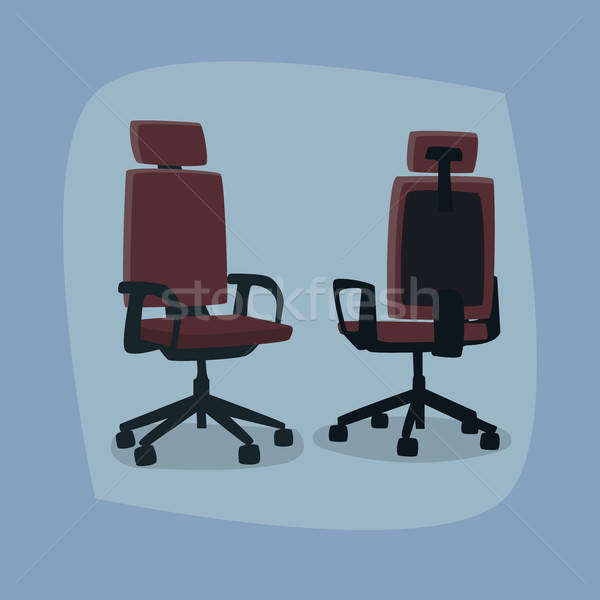 Set of isolated office chairs in different angles Stock photo © alexanderandariadna