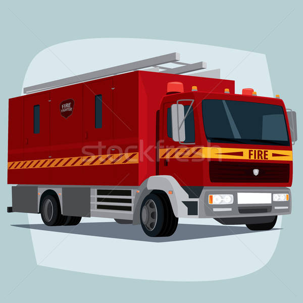 Isolated fire engine car Stock photo © alexanderandariadna