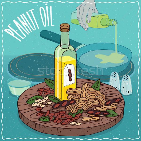 Peanut oil used for frying food Stock photo © alexanderandariadna
