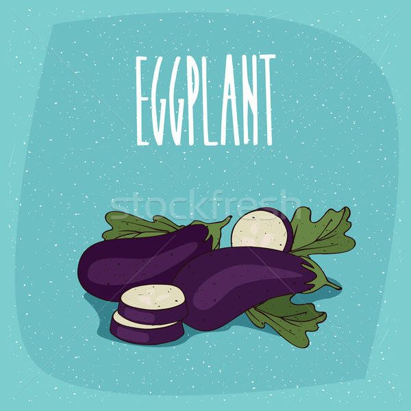 Isolated vegetable fruits aubergine or eggplant Stock photo © alexanderandariadna