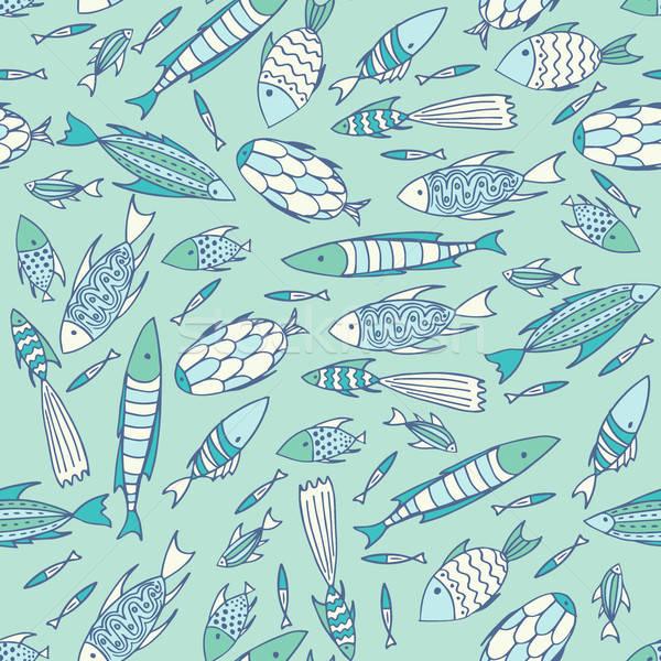Macio azul padrão caótico Foto stock © alexanderandariadna