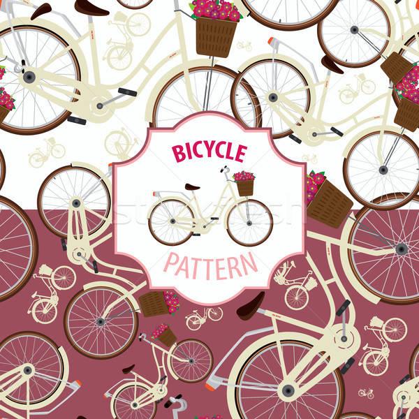 パターン 自転車 セット 2 色 オプション ストックフォト © alexanderandariadna