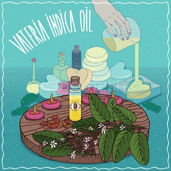 Vateria indica oil used for soap making Stock photo © alexanderandariadna