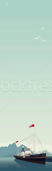 垂直 風景 船 日 風光明媚な 古い ストックフォト © alexanderandariadna