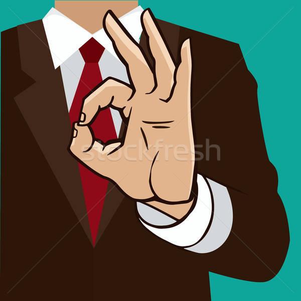 Hand sign okay Stock photo © alexanderandariadna