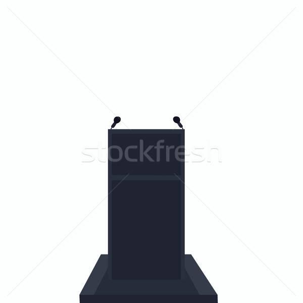 Podio bianco semplificato realistico mano Foto d'archivio © alexanderandariadna