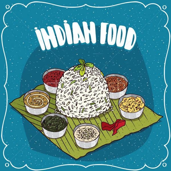 Tradicional indiano prato arroz comida culinária indiana Foto stock © alexanderandariadna