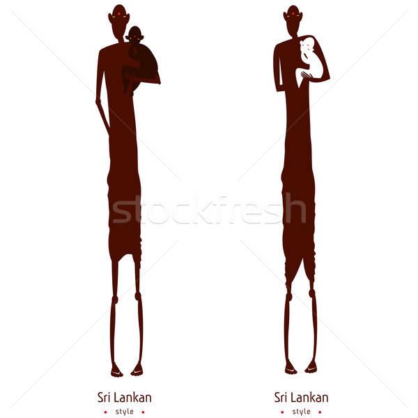 Set of two aborigines Stock photo © alexanderandariadna