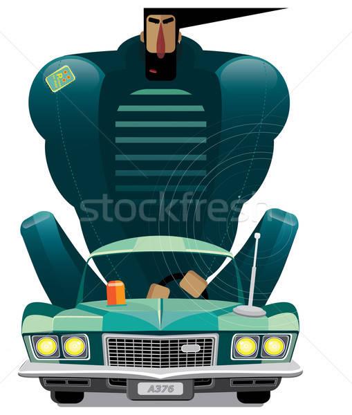 Man in retro car Stock photo © alexanderandariadna