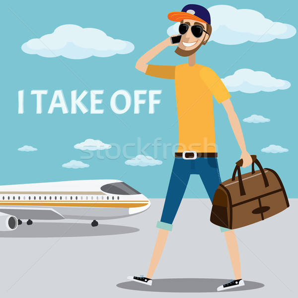 Take off with a man Stock photo © alexanderandariadna