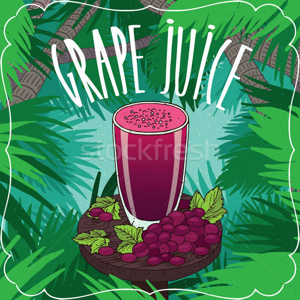 Stockfoto: Vers · druivensap · glas · rijp · vruchten · transparant