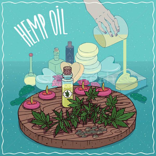 Hemp seed oil used for soap making Stock photo © alexanderandariadna