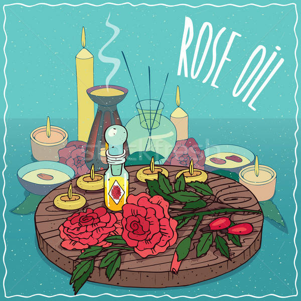 Rose oil used for aromatherapy Stock photo © alexanderandariadna
