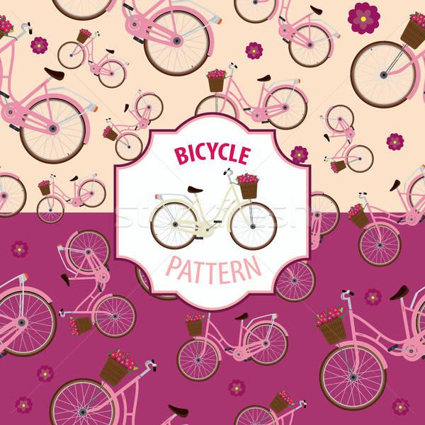 Model bisiklet ayarlamak iki renk seçenekleri Stok fotoğraf © alexanderandariadna