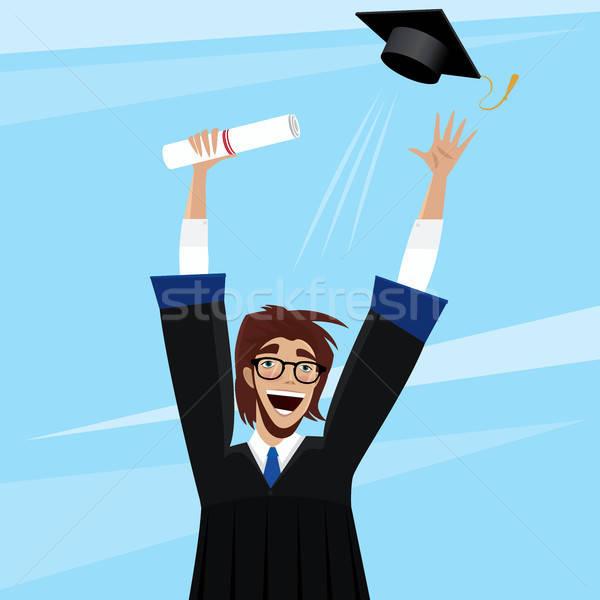 Student enjoys graduation Stock photo © alexanderandariadna
