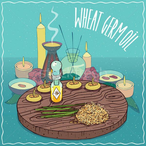 Wheat germ oil used for aromatherapy Stock photo © alexanderandariadna