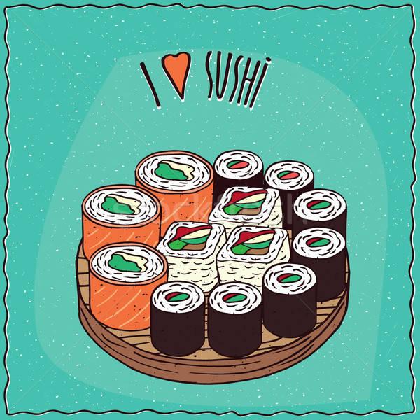 Set diverso sushi maki tipo Foto d'archivio © alexanderandariadna