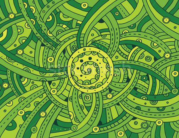 Verde bio patrón dibujado a mano estilo resumen Foto stock © alexanderandariadna