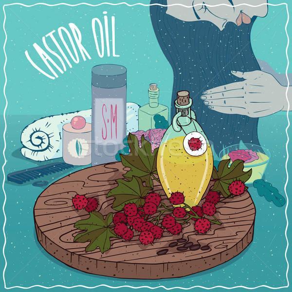 Castor oil used for hair care Stock photo © alexanderandariadna
