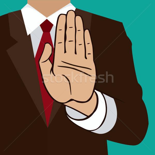 рукой знак человека указывая Palm Сток-фото © alexanderandariadna