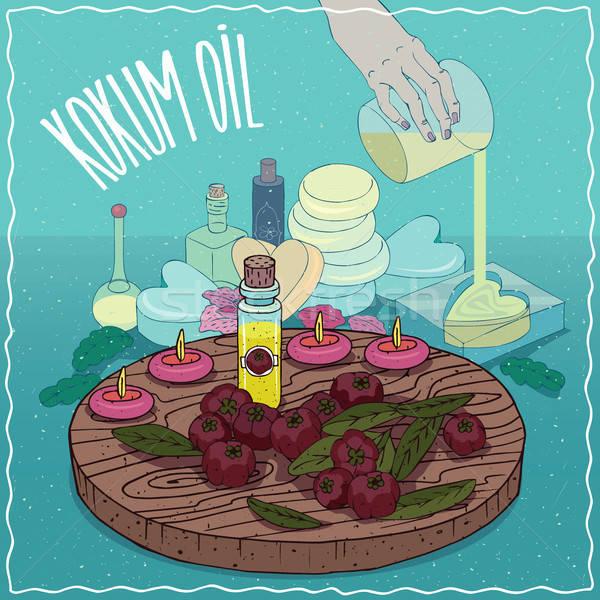 Kokum oil used for soap making Stock photo © alexanderandariadna