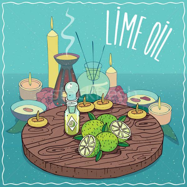 Lime oil used for aromatherapy Stock photo © alexanderandariadna