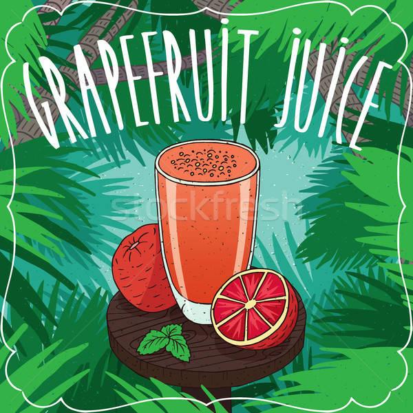 свежие грейпфрут сока стекла зрелый плодов Сток-фото © alexanderandariadna