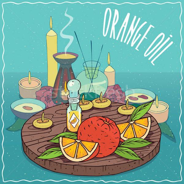 Orange oil used for aromatherapy Stock photo © alexanderandariadna