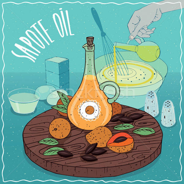 Sapote oil used for cooking Stock photo © alexanderandariadna