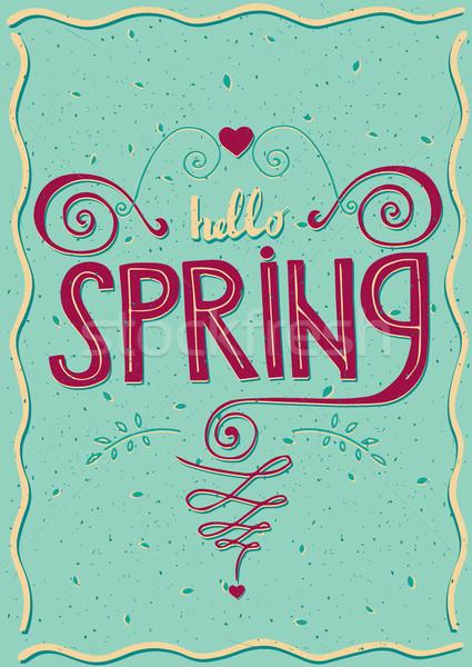 Carte poştală Alo primăvară inimă Imagine de stoc © alexanderandariadna