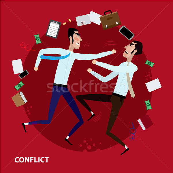 Stock photo: Conflict of two businessmen