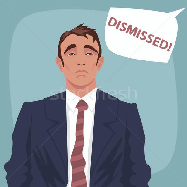 Szomorú üzletember buborék portré boldogtalan üzletember Stock fotó © alexanderandariadna