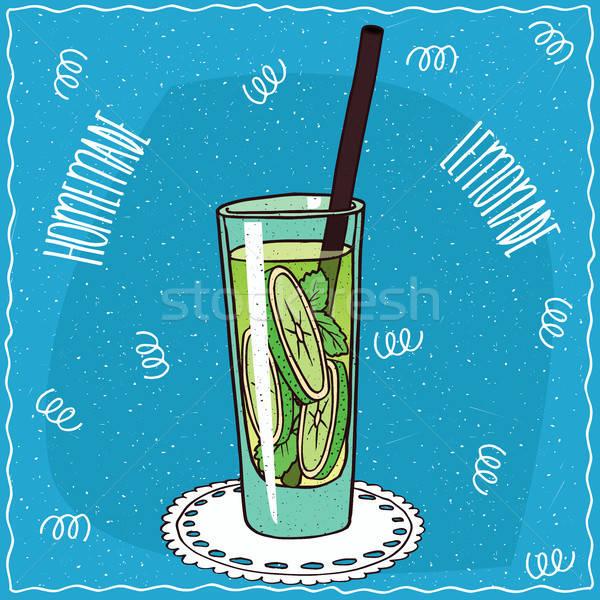 Caseiro cal limonada feito à mão desenho animado estilo Foto stock © alexanderandariadna