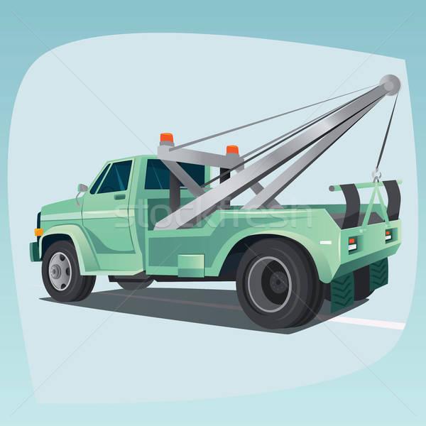 Isolated tow truck with crane Stock photo © alexanderandariadna