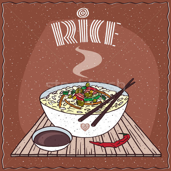 Asian riso verdura indian piatto Foto d'archivio © alexanderandariadna