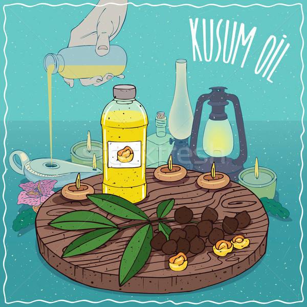 Kusum oil used as fuel for oil lamp Stock photo © alexanderandariadna